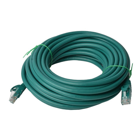 8Ware Cat6a UTP Ethernet Lan Cable 20m Snagless-�Green