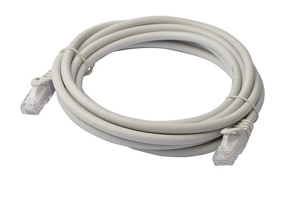 8Ware Cat 6A Utp Ethernet Cable, Snagless - 3M Grey