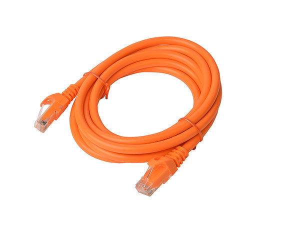 8Ware Cat 6A Utp Ethernet Cable, Snagless - 3M Orange