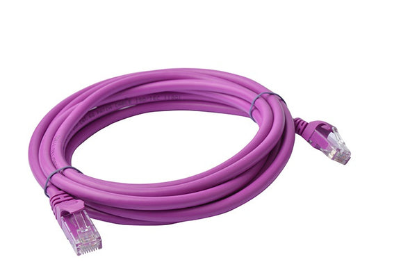 8Ware Cat 6A Utp Ethernet Cable, Snagless - 3M Purple