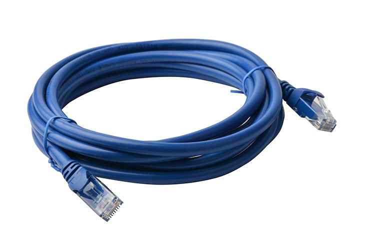 8Ware Cat6a UTP Ethernet Lan Cable 5m Snagless- Blue