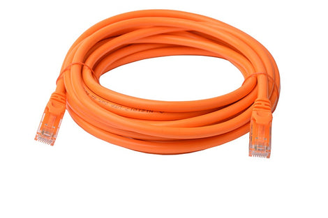8Ware Cat6a UTP Ethernet Cable 5m Snagless Orange
