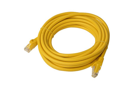 8Ware Cat6a UTP Ethernet Lan Cable 5m Snagless- Yellow
