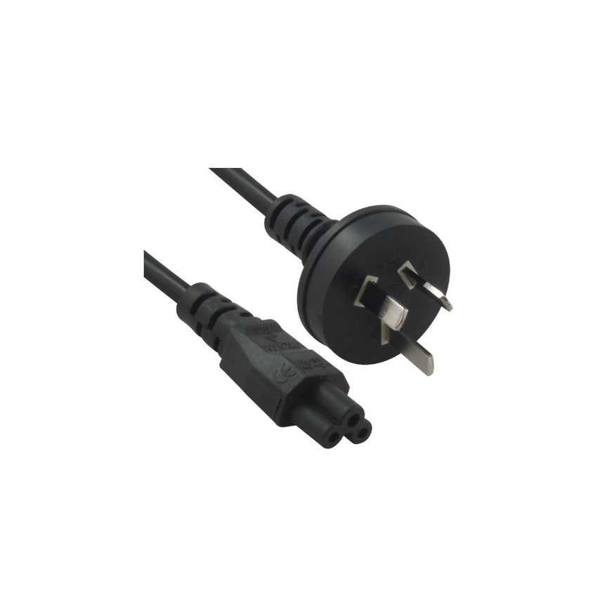 8Ware Power Cable 2m 3-Pin AU to IEC C5 Male to Female