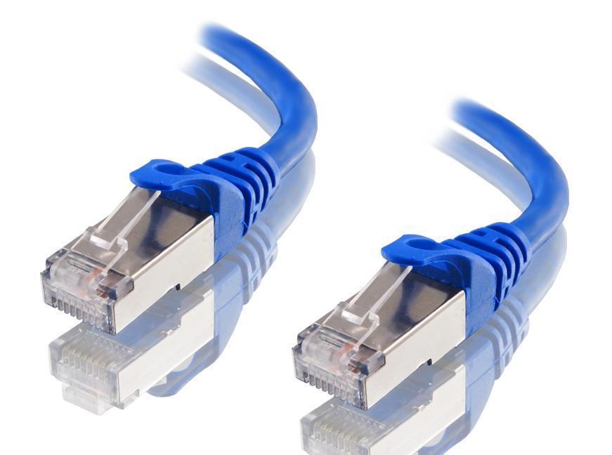 Astrotek 25cm/0.25m CAT6A Shielded Cable Blue 10GbE RJ45 Ethernet Network Cable AT-RJ45BLUF6A-0.25M