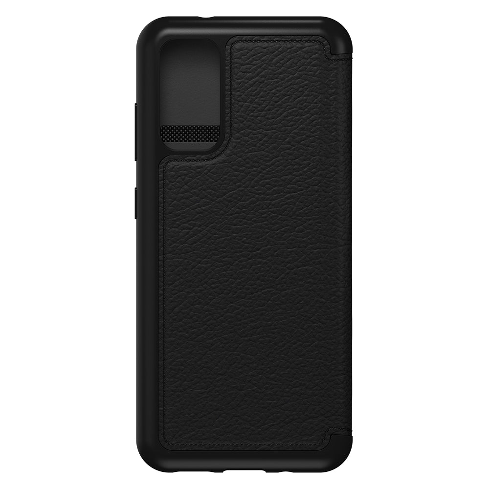 "OTTERBOX Strada Leather Card Folio Wallet Case For Galaxy S20 (6.2"") - Black"