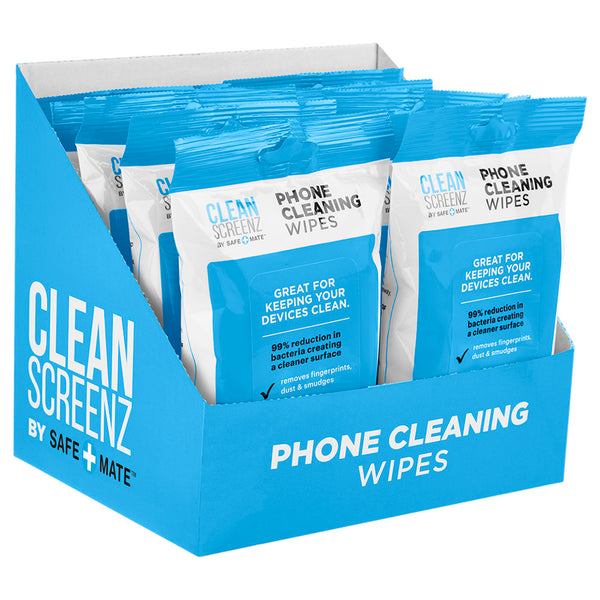Case-Mate Cleanscreenz Wipes - Cleansing Phone Wipes - 20 Pack