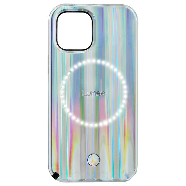 Case-Mate LuMee Halo Case - For iPhone 12 Pro Max 6.7 - Holographic Paris Hilton Edition w/ Micropel