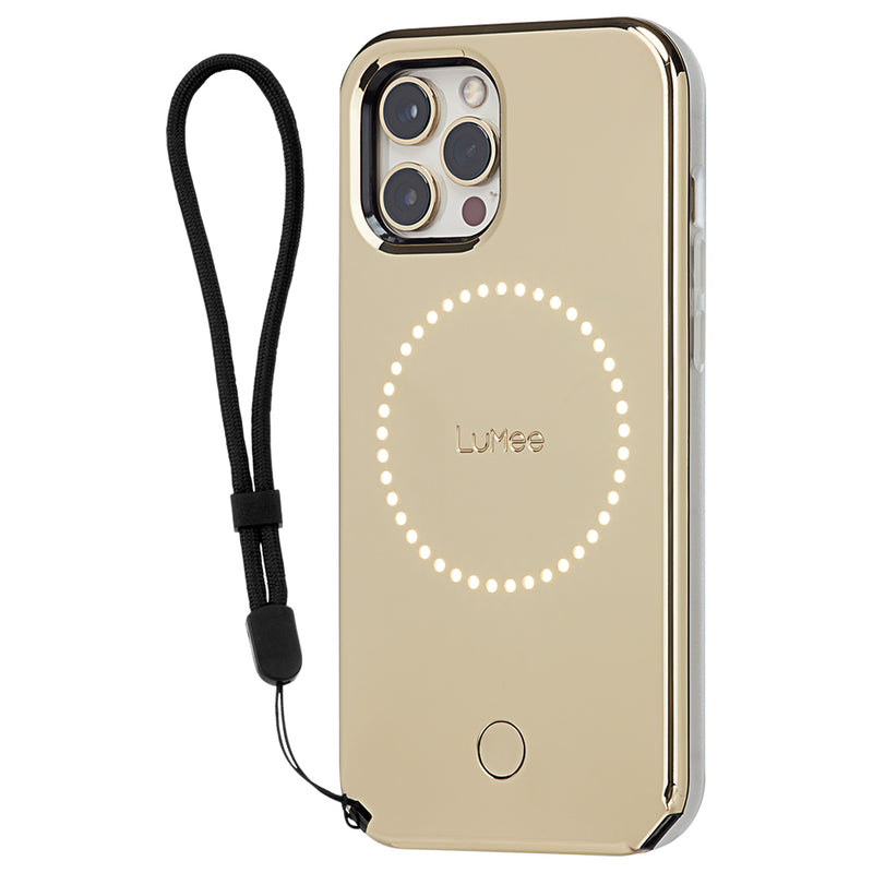 Case-Mate LuMee Halo Case  - For iPhone 12 Pro Max 6.7 - Gold Mirror w/ Micropel