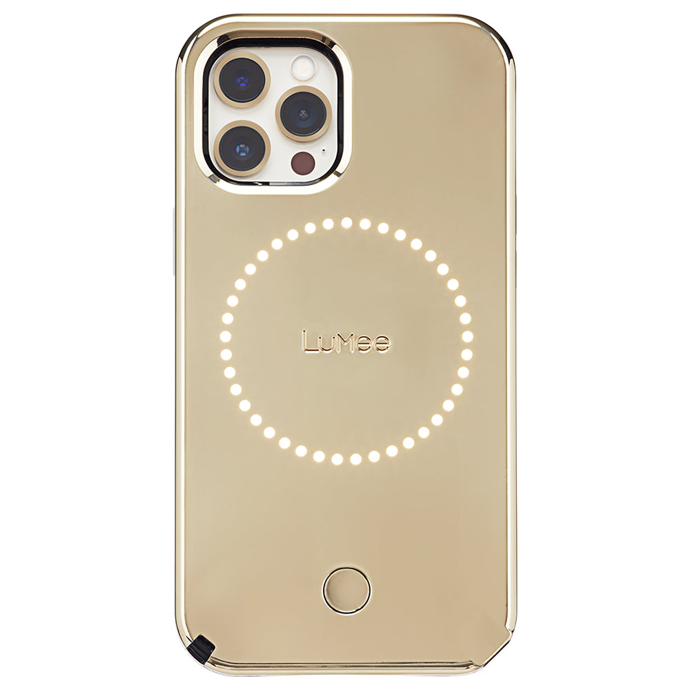 Case-Mate LuMee Halo Case  - For iPhone 12/12 Pro 6.1 - Gold Mirror w/ Micropel