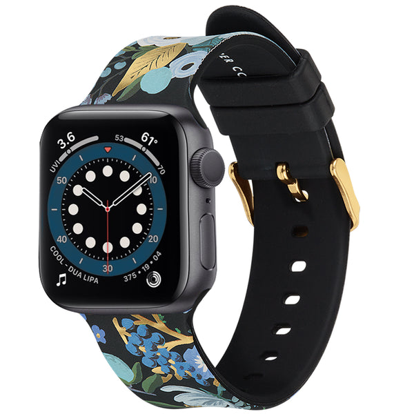 Case-Mate Rifle Paper Watch Band 42-44mm - For Apple Watch Series 1/2/3/4/5/6/SE - Wild Flowers
