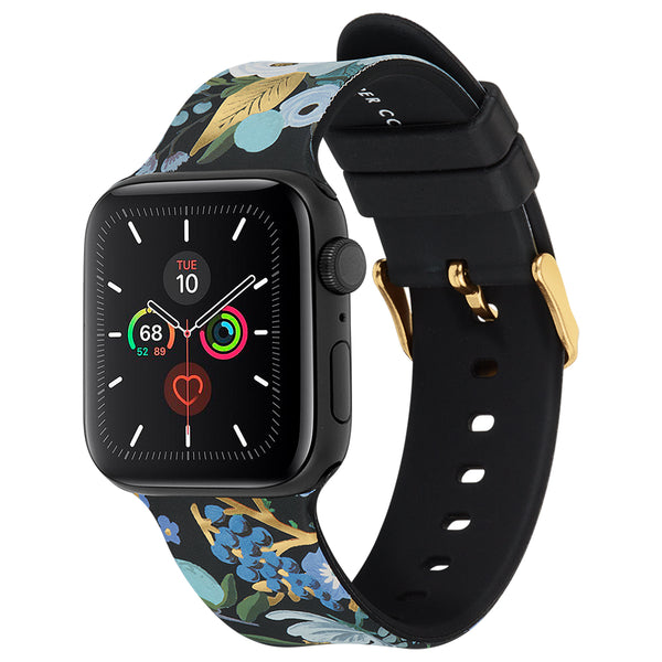 Case-Mate Rifle Paper Watch Band 42-44mm - For Apple Watch Series 1/2/3/4/5/6/SE - Garden Party Blue