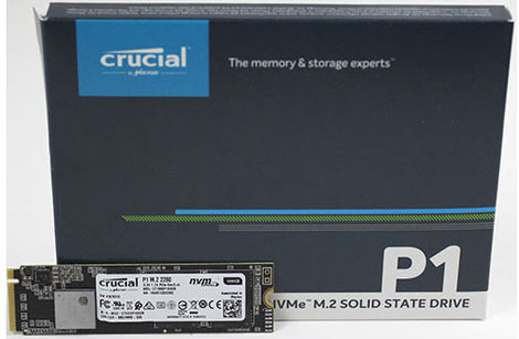 Crucial P1 500GB M.2 (2280) NVMe PCIe SSD