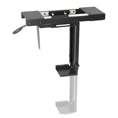 Adjustable Under Desk CPU Mount with Sliding track, Up to 10kg, 360� Swivel - Brateck CPU Holder Under Desk