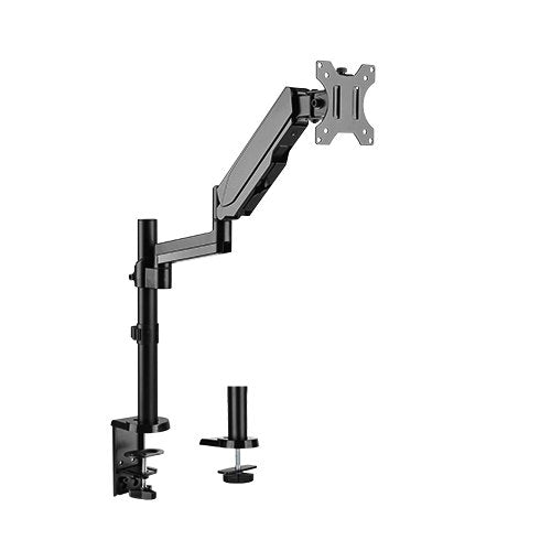 Brateck Single Monitor Full Extension Gas Spring Single Monitor Arm 17' - 32' Up to 8Kg Per screen