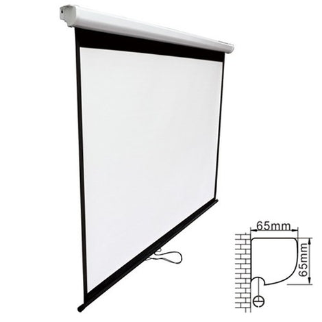 Brateck Projector Standard Auto-lock Manual Projection Screen-108'' ( 2.40X 1.35M) /(16:9 Ratio)