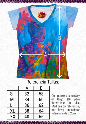 Tabla de referencia de tallas blusas octopus