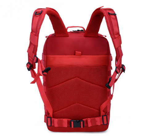 Red Backpack Back with Airflow system