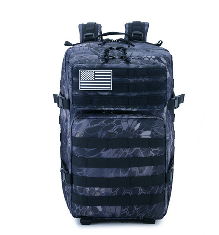 Crepe Black Camo Tactical Backpack