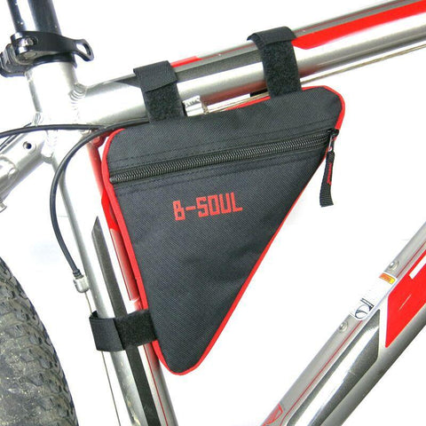 Bicycle frame bag red and Black