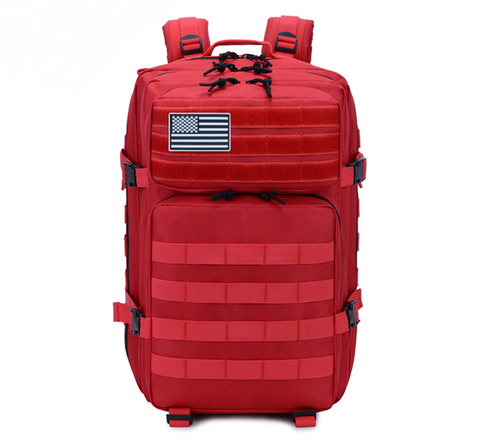 Red backpack Front
