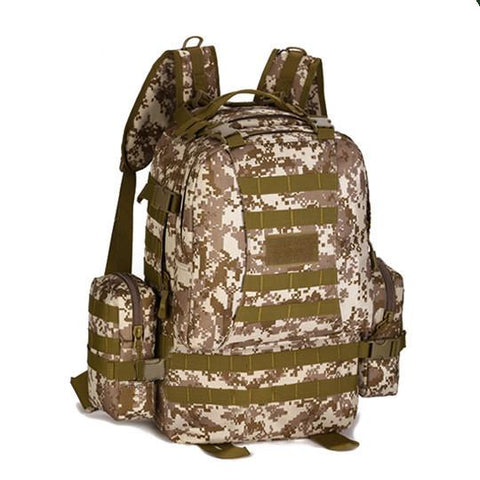 Tactical Backpack - Camping, Travel, Utility, Camouflage - 50L