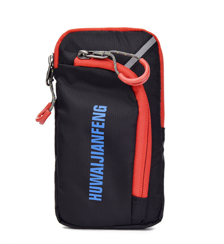 Red Cycling Backpack Pouch/Wallet