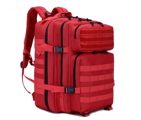 Red backpack Angle View