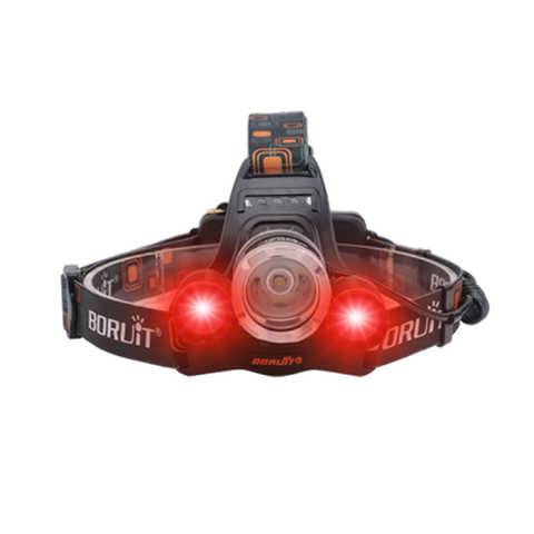 2 Red with 1 White Lights on Headlamp