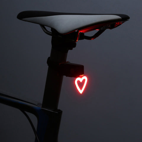Bicycle Tail Light- Heart Shaped