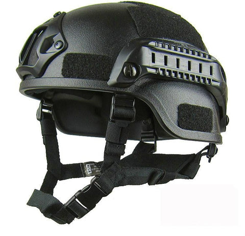 Black Tactical Helmet angle view