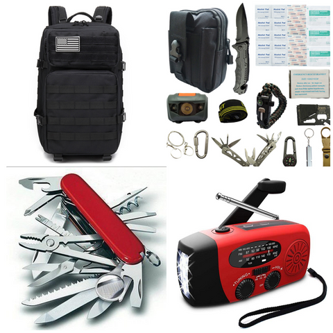 Premium Survival Kit with 55L Backpack