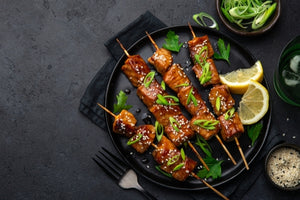 Asian Salmon Skewers - $19.99/4 Skewers