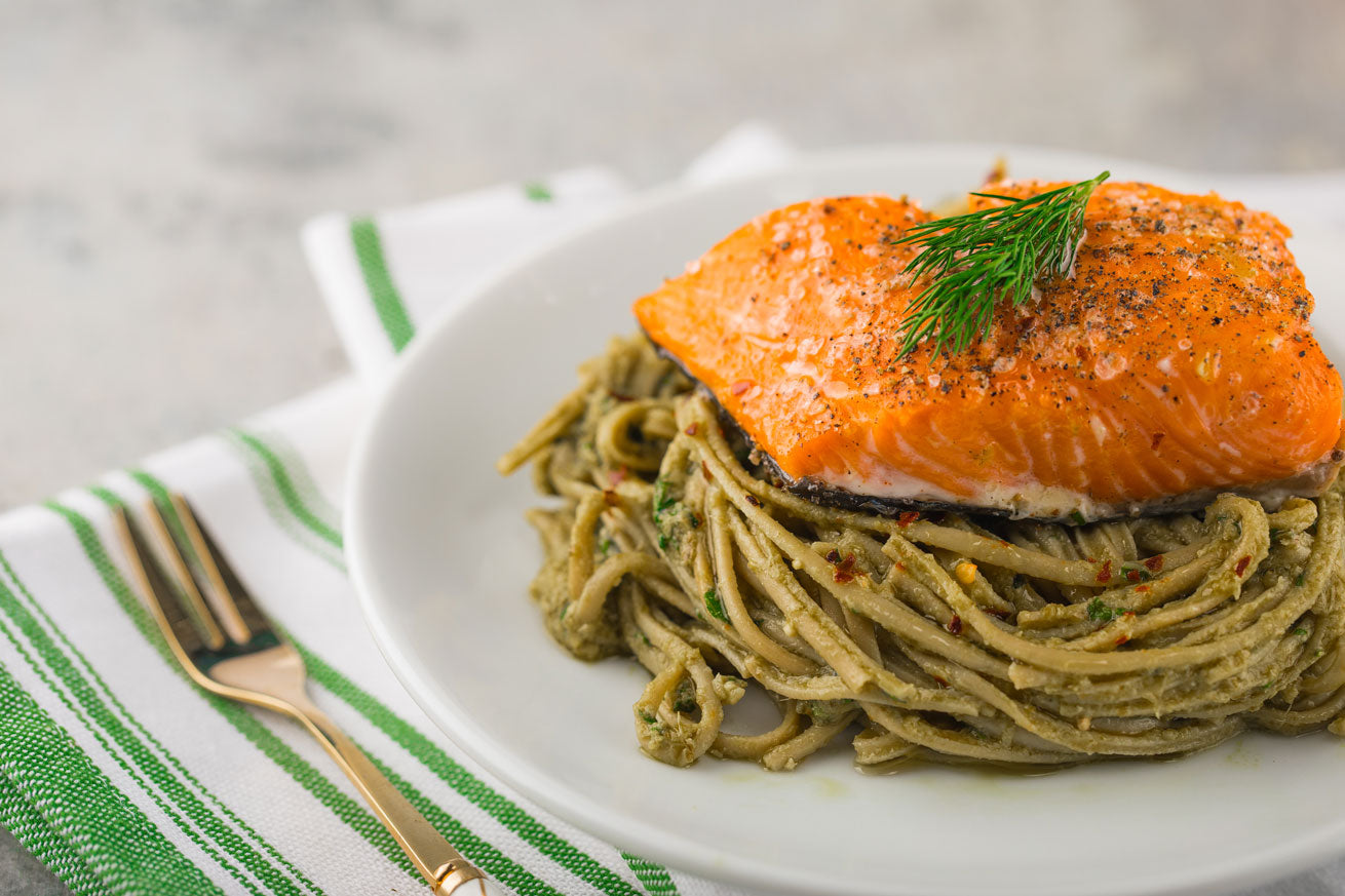 Salmon Linguine Bowl - $14