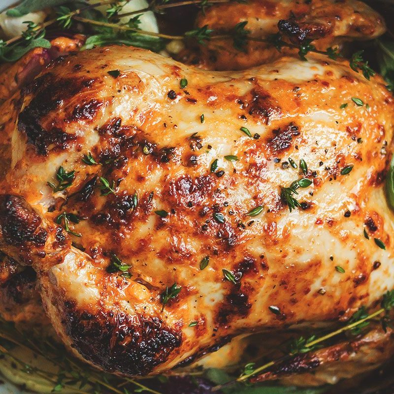 Whole Roasted Chicken with Apple Lemon Stuffing - $24.99/Chicken