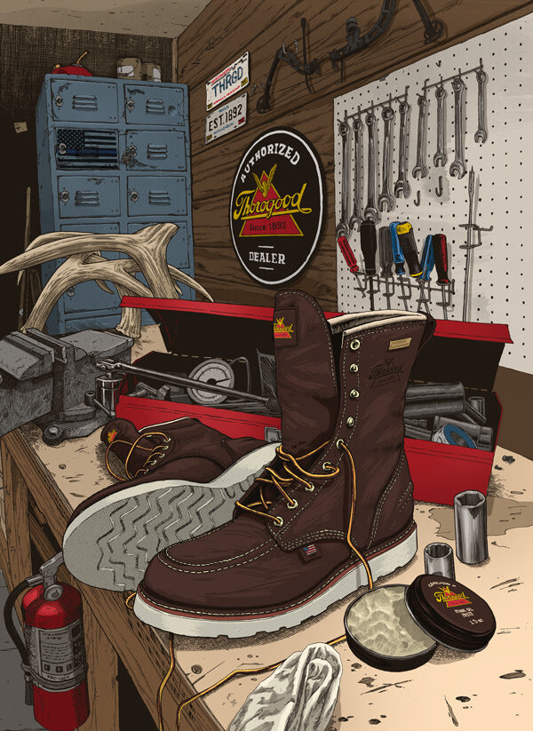Thorogood boot illustration