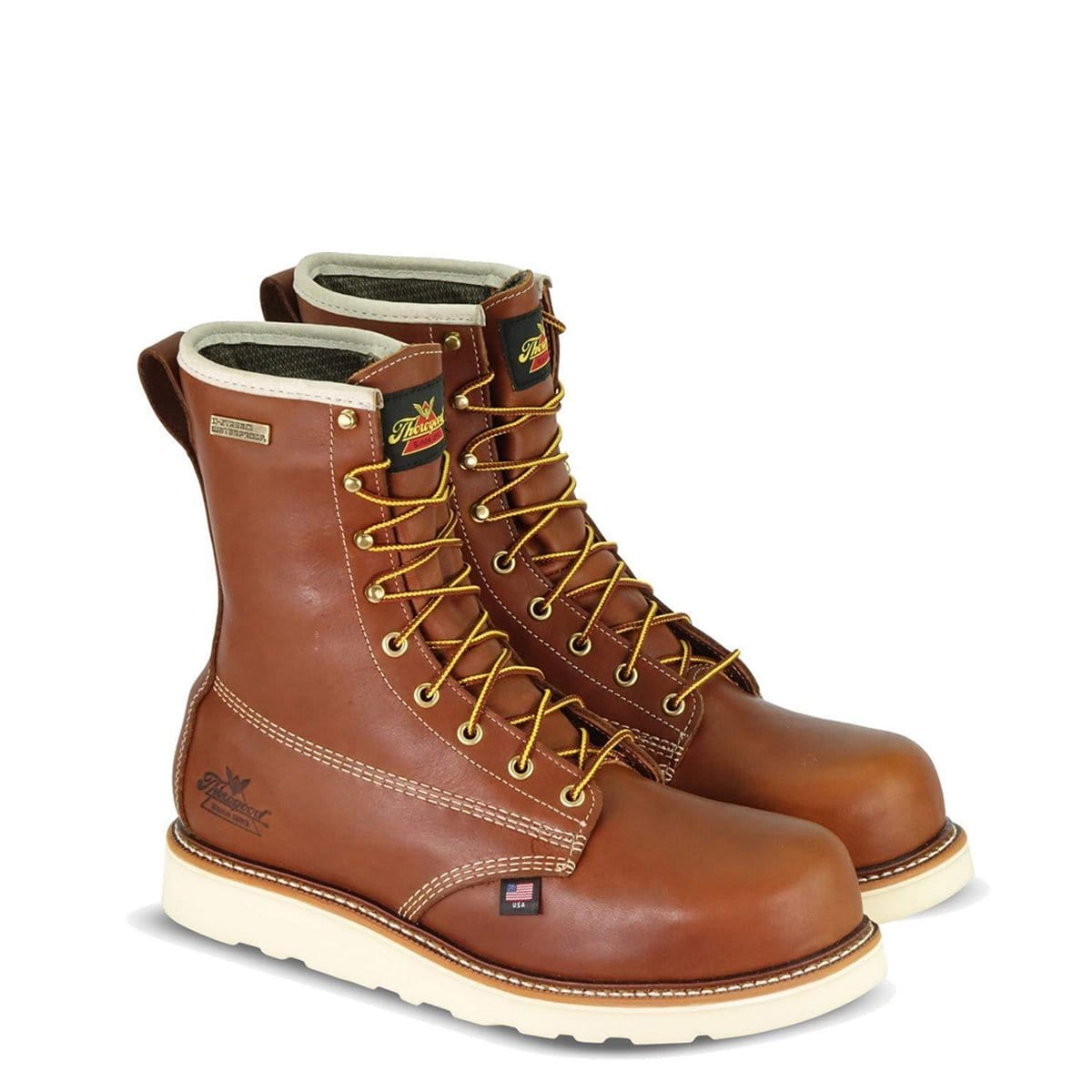 Thorogood American Heritage 8in Round Toe, MAXWear Wedge Waterproof Composite Safety Toe Boots 804-4280