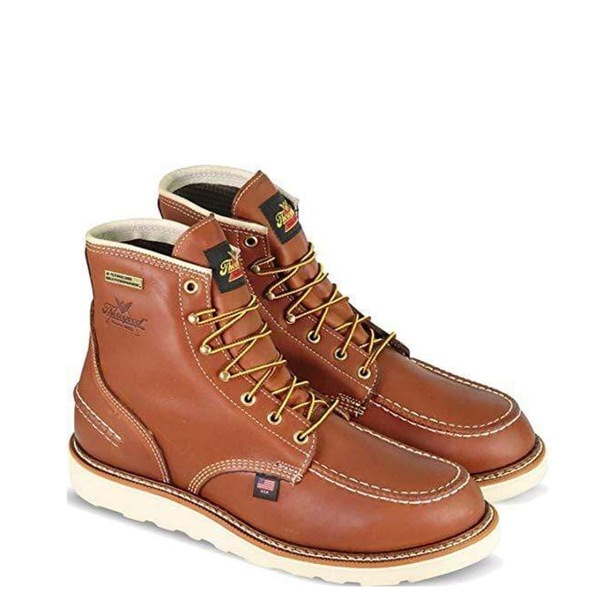 Thorogood 1957 Series Men's 6in Moc Toe, MAXwear Wedge Waterproof Non-Safety Toe Boot 814-4600
