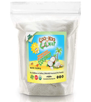 Organic Shredded Coconut Unsweetened, 1 lb, Fine, Great for Coconut Milk, Keto and Paleo Treats