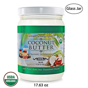 Organic Coconut Butter 17.6 oz Raw Stone Ground Pureed For Keto Paleo Friendly Recipes