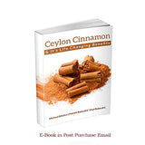 Organic Ceylon Cinnamon Powder, 3.5 oz from Ceylon Sri Lanka, Premium Grade, Harvested Fresh, w/ E-Book