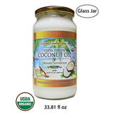 Organic Coconut Oil 33.81 Oz Extra Virgin Cold-Pressed for Hair, Skin, Beauty, Cooking, Keto & Paleo Friendly