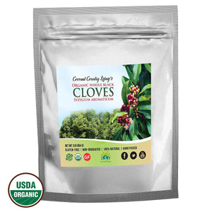 Organic Whole Cloves Fair Trade in Mylar Bag w/ E-Book of Secrets of Cloves and Gourmet Recipes