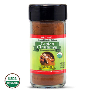 Organic Ceylon Cinnamon Ground Powder Raw 1.41 oz