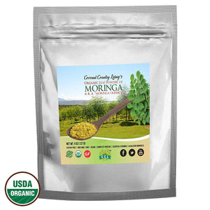Organic Moringa Leaf Powder Raw 1 lb – Premium Grade, Nutrient Dense Health Boost for Body