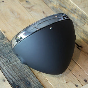 "Headlight Shell 7"" British Style- Black"