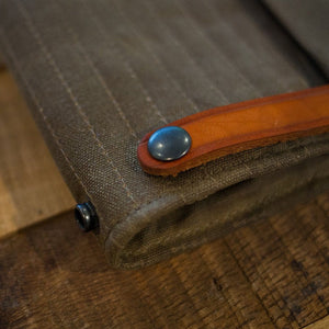 Handmade Canvas Magnetic Tank Bag (Olive Brown)