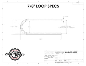 Weld-on Frame Loop - Cognito Moto