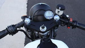 "Headlight Shell 7"" British Style- Black - Cognito Moto"