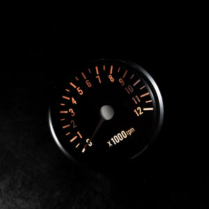 "Mini Tachometer 4:1 w/Bracket 2.5"" Black"